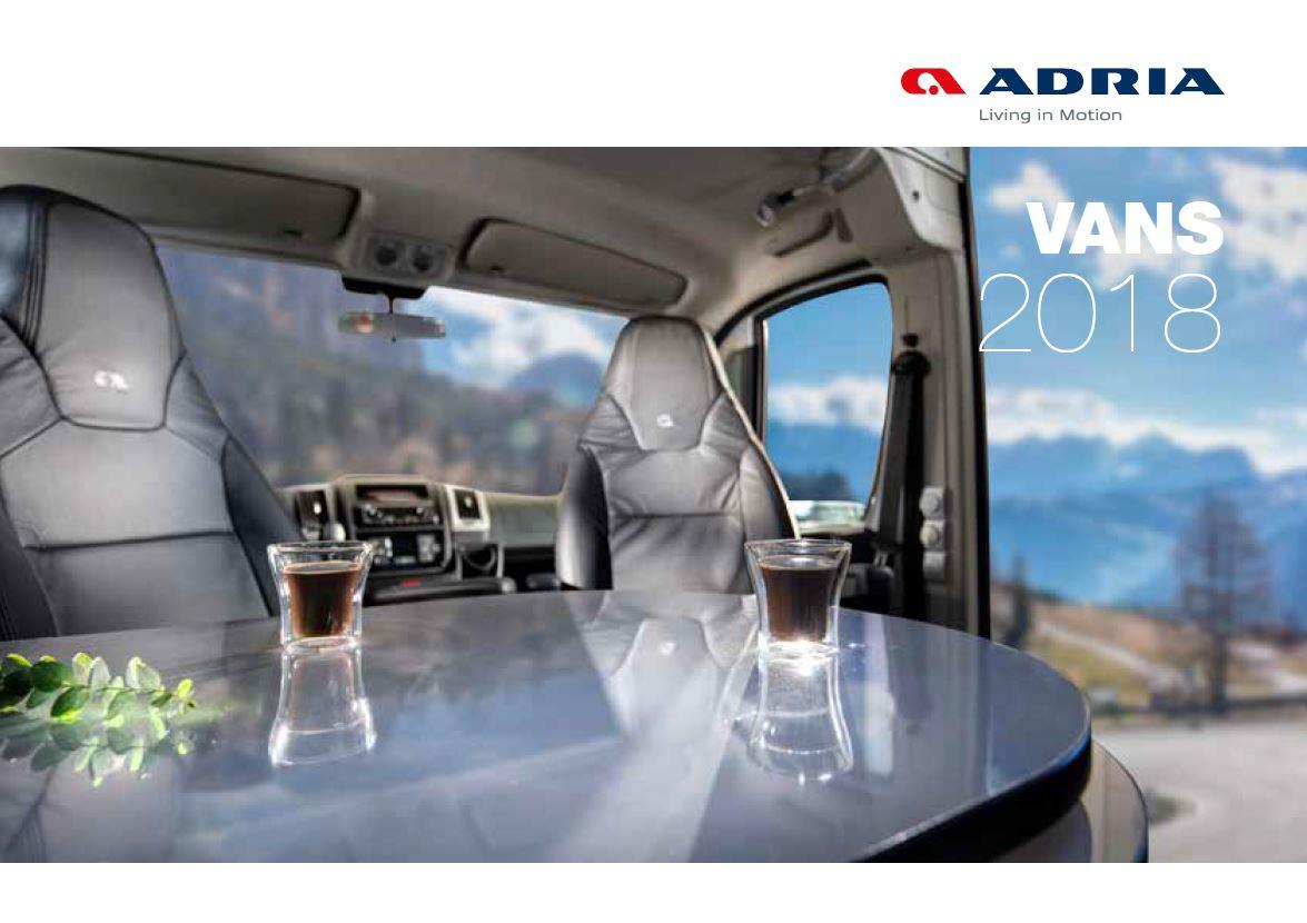 Adria 2018 Van Brochure