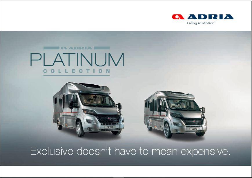 Adria 2017 Platinum Brochure