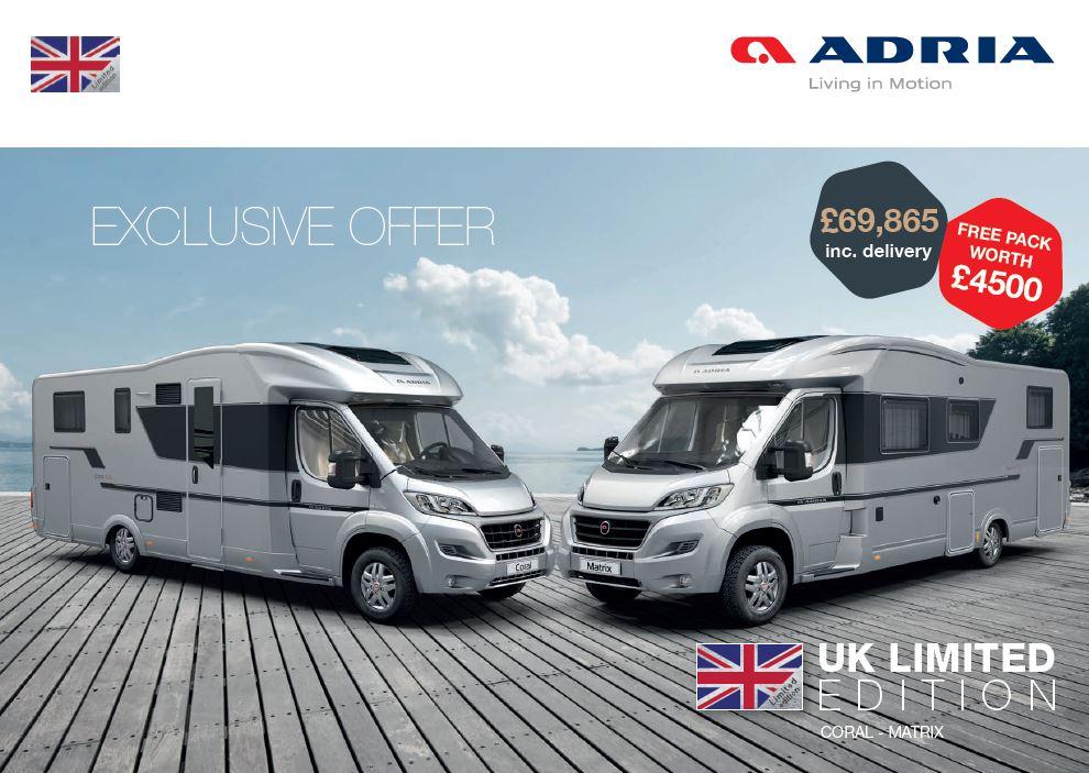 Adria 2020 UK Limted Edition Brochure