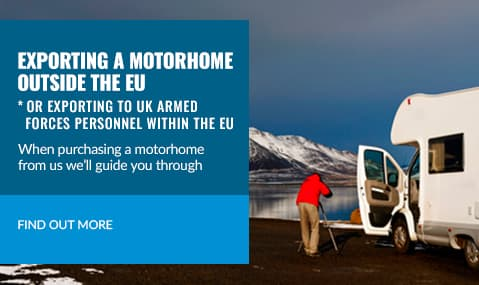 Exporting a motorhome, we can help
